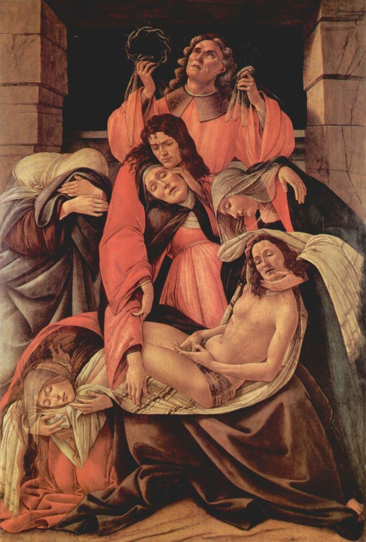 Lamentation of Christ [1] - Botticelli